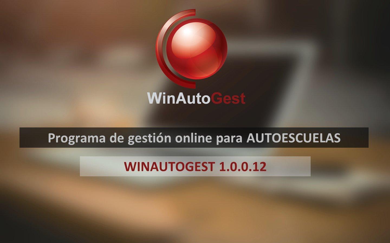 Aplicación de autoescuelas WinAutoGest – Versión 1.0.0.12